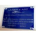 Plaque professionnelle en plexiglas transparent ou coloré format 200 x 150 mm