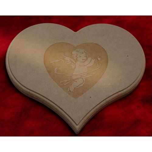 Dessous de plat coeur en bois agglom r - Dessous de plat en bois ...
