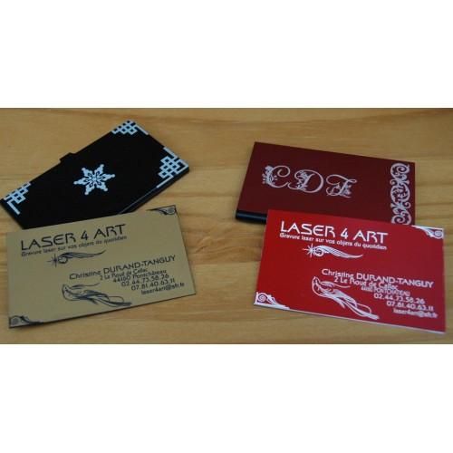 Cartes de visite en matériau acrylique métalisé ou couleur